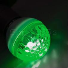 Лампа строб e27 ∅50мм зеленая