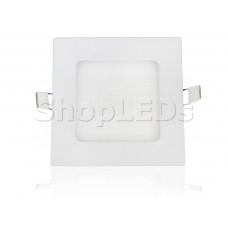 Светодиодная панель BKL-T-121-6W (белый квадрат, 6W, 121x121x14mm) (белый 6000K)